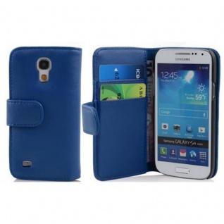 Cadorabo Hülle für Samsung Galaxy S4 MINI in BRILLANT BLAU - Handyhülle aus glattem Kunstleder mit Standfunktion und Kartenfach - Case Cover Schutzhülle Etui Tasche Book Klapp Style - Vorschau 2