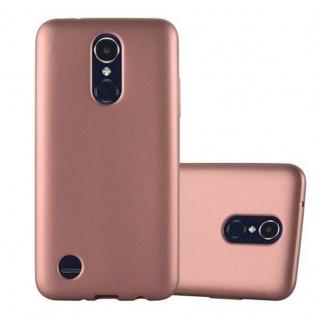 Cadorabo Hülle für LG K8 2017 in METALLIC ROSE GOLD Handyhülle aus flexiblem TPU Silikon Silikonhülle Schutzhülle Ultra Slim Soft Back Cover Case Bumper