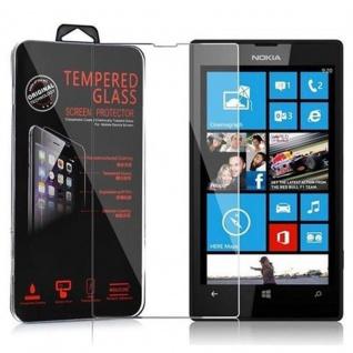 Cadorabo Panzer Folie für Nokia Lumia 520 / 521 - Schutzfolie in KRISTALL KLAR - Gehärtetes (Tempered) Display-Schutzglas in 9H Härte mit 3D Touch Kompatibilität