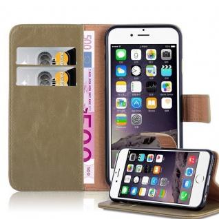 Cadorabo Hülle für Apple iPhone 6 PLUS / iPhone 6S PLUS in CAPPUCCINO BRAUN ? Handyhülle mit Magnetverschluss, Standfunktion und Kartenfach ? Case Cover Schutzhülle Etui Tasche Book Klapp Style