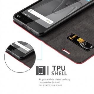 Cadorabo Hülle für WIKO LENNY 4 in APFEL ROT Handyhülle mit Magnetverschluss, Standfunktion und Kartenfach Case Cover Schutzhülle Etui Tasche Book Klapp Style - Vorschau 2