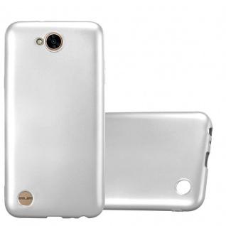 Cadorabo Hülle für LG X Power 2 in METALLIC SILBER Handyhülle aus flexiblem TPU Silikon Silikonhülle Schutzhülle Ultra Slim Soft Back Cover Case Bumper