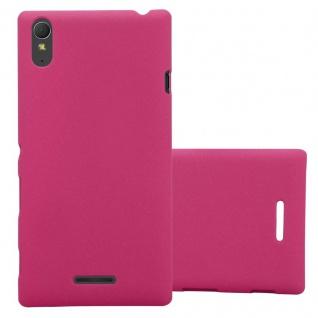 Cadorabo Hülle für Sony Xperia T3 in FROSTY PINK - Hardcase Handyhülle aus Plastik gegen Kratzer und Stöße - Schutzhülle Bumper Ultra Slim Back Case Hard Cover