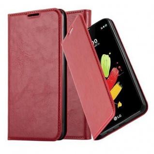 Cadorabo Hülle für LG STYLUS 2 in APFEL ROT - Handyhülle mit Magnetverschluss, Standfunktion und Kartenfach - Case Cover Schutzhülle Etui Tasche Book Klapp Style