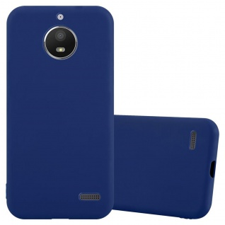 Cadorabo Hülle für Motorola Moto E4 in CANDY DUNKEL BLAU Handyhülle aus flexiblem TPU Silikon Silikonhülle Schutzhülle Ultra Slim Soft Back Cover Case Bumper
