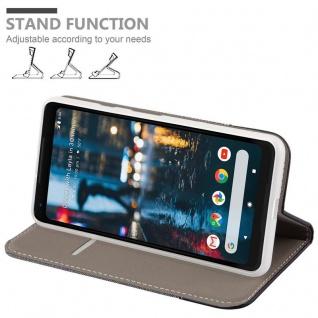 Cadorabo Hülle für Google Pixel 2 XL in GRAU SCHWARZ - Handyhülle mit Magnetverschluss, Standfunktion und Kartenfach - Case Cover Schutzhülle Etui Tasche Book Klapp Style - Vorschau 4