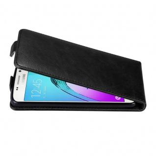 Cadorabo Hülle für Samsung Galaxy A3 2016 in NACHT SCHWARZ Handyhülle im Flip Design mit unsichtbarem Magnetverschluss Case Cover Schutzhülle Etui Tasche Book Klapp Style