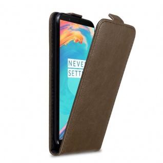 Cadorabo Hülle für OnePlus 5T in KAFFEE BRAUN Handyhülle im Flip Design mit Magnetverschluss Case Cover Schutzhülle Etui Tasche Book Klapp Style