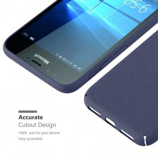 Cadorabo Hülle für Nokia Lumia 950 in FROSTY BLAU - Hardcase Handyhülle aus Plastik gegen Kratzer und Stöße - Schutzhülle Bumper Ultra Slim Back Case Hard Cover - Vorschau 5