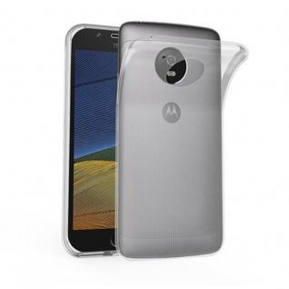 Cadorabo Hülle für Motorola MOTO G5 PLUS - Hülle in VOLL TRANSPARENT ? Handyhülle aus TPU Silikon im Ultra Slim 'AIR' Design - Ultra Slim Soft Backcover Case Bumper