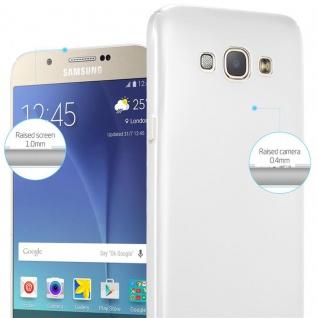 Cadorabo Hülle für Samsung Galaxy A8 2015 in METALL SILBER ? Hardcase Handyhülle aus Plastik gegen Kratzer und Stöße ? Schutzhülle Bumper Ultra Slim Back Case Hard Cover - Vorschau 4