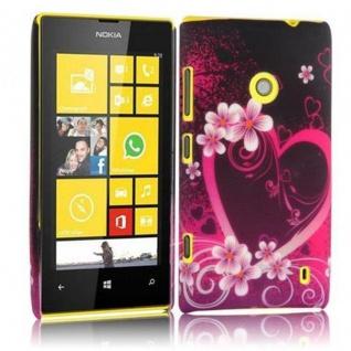 Cadorabo - Hard Cover für Nokia Lumia 520 - Case Cover Schutzhülle Bumper im Design: LOVE FLOWER