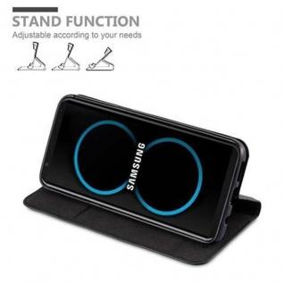 Cadorabo Hülle für Samsung Galaxy S8 in NACHT SCHWARZ - Handyhülle mit Magnetverschluss, Standfunktion und Kartenfach - Case Cover Schutzhülle Etui Tasche Book Klapp Style - Vorschau 4