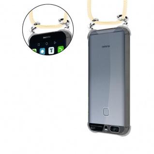 Cadorabo Handy Kette für Huawei P9 in CREME BEIGE - Silikon Necklace Umhänge Hülle mit Silber Ringen, Kordel Band Schnur und abnehmbarem Etui - Schutzhülle - Vorschau 5