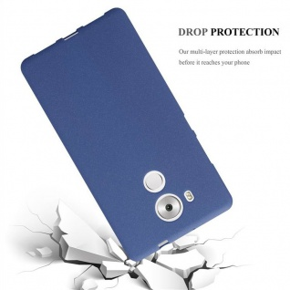 Cadorabo Hülle für Huawei MATE 8 in FROST DUNKEL BLAU - Handyhülle aus flexiblem TPU Silikon - Silikonhülle Schutzhülle Ultra Slim Soft Back Cover Case Bumper - Vorschau 3
