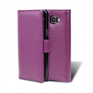Cadorabo Hülle für Samsung Galaxy A5 2016 in BORDEAUX LILA - Handyhülle mit Magnetverschluss und 3 Kartenfächern - Case Cover Schutzhülle Etui Tasche Book Klapp Style