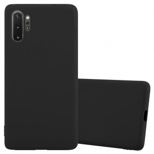 Cadorabo Hülle für Samsung Galaxy Note 10 PRO in CANDY SCHWARZ Handyhülle aus flexiblem TPU Silikon Silikonhülle Schutzhülle Ultra Slim Soft Back Cover Case Bumper