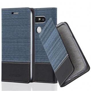 Cadorabo Hülle für LG G5 in DUNKEL BLAU SCHWARZ - Handyhülle mit Magnetverschluss, Standfunktion und Kartenfach - Case Cover Schutzhülle Etui Tasche Book Klapp Style