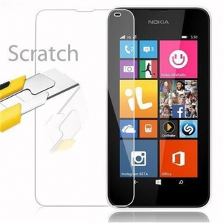 Cadorabo Panzer Folie für Nokia Lumia 532 - Schutzfolie in KRISTALL KLAR - Gehärtetes (Tempered) Display-Schutzglas in 9H Härte mit 3D Touch Kompatibilität - Vorschau 3