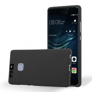 Cadorabo Hülle für Huawei P9 in FROST SCHWARZ - Handyhülle aus flexiblem TPU Silikon - Silikonhülle Schutzhülle Ultra Slim Soft Back Cover Case Bumper