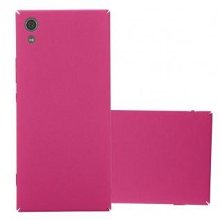 Cadorabo Hülle für Sony Xperia XA1 in FROSTY PINK - Hardcase Handyhülle aus Plastik gegen Kratzer und Stöße - Schutzhülle Bumper Ultra Slim Back Case Hard Cover