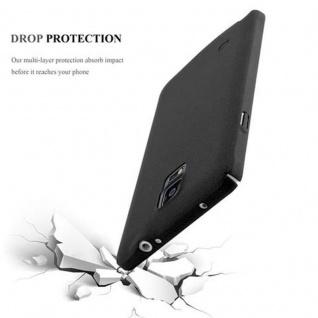Cadorabo Hülle für Samsung Galaxy NOTE 4 in FROSTY SCHWARZ - Hardcase Handyhülle aus Plastik gegen Kratzer und Stöße - Schutzhülle Bumper Ultra Slim Back Case Hard Cover - Vorschau 3