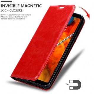 Cadorabo Hülle für LG Q Stylus in APFEL ROT Handyhülle mit Magnetverschluss, Standfunktion und Kartenfach Case Cover Schutzhülle Etui Tasche Book Klapp Style - Vorschau 3
