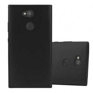 Cadorabo Hülle für Sony Xperia L2 in METALLIC SCHWARZ - Handyhülle aus flexiblem TPU Silikon - Silikonhülle Schutzhülle Ultra Slim Soft Back Cover Case Bumper