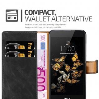 Cadorabo Hülle für LG K8 2016 in GRAPHIT SCHWARZ ? Handyhülle mit Magnetverschluss, Standfunktion und Kartenfach ? Case Cover Schutzhülle Etui Tasche Book Klapp Style - Vorschau 5