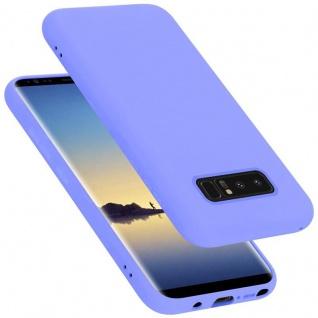 Cadorabo Hülle für Samsung Galaxy NOTE 8 in LIQUID HELL LILA Handyhülle aus flexiblem TPU Silikon Silikonhülle Schutzhülle Ultra Slim Soft Back Cover Case Bumper