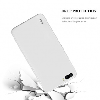 Cadorabo Hülle für Honor 6 PLUS in METALLIC SILBER - Handyhülle aus flexiblem TPU Silikon - Silikonhülle Schutzhülle Ultra Slim Soft Back Cover Case Bumper - Vorschau 3