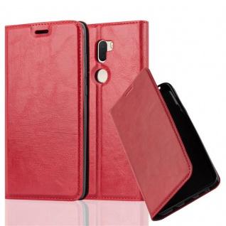 Cadorabo Hülle für Xiaomi Mi 5S PLUS in APFEL ROT - Handyhülle mit Magnetverschluss, Standfunktion und Kartenfach - Case Cover Schutzhülle Etui Tasche Book Klapp Style