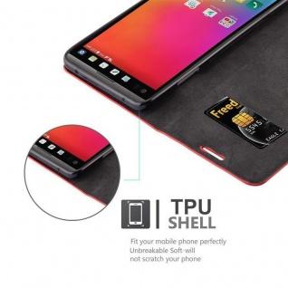 Cadorabo Hülle für LG V20 in APFEL ROT Handyhülle mit Magnetverschluss, Standfunktion und Kartenfach Case Cover Schutzhülle Etui Tasche Book Klapp Style - Vorschau 2