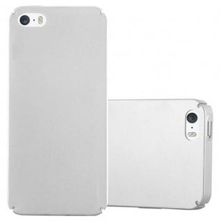Cadorabo Hülle für Apple iPhone 5 / iPhone 5S / iPhone SE in METALL SILBER - Hardcase Handyhülle aus Plastik gegen Kratzer und Stöße - Schutzhülle Bumper Ultra Slim Back Case Hard Cover