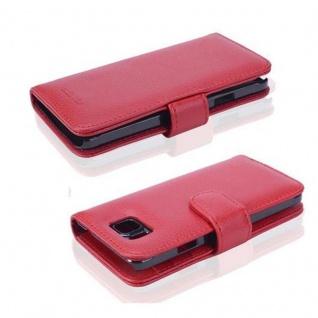 Cadorabo Hülle für Samsung Galaxy ALPHA in INFERNO ROT ? Handyhülle mit Magnetverschluss und 3 Kartenfächern ? Case Cover Schutzhülle Etui Tasche Book Klapp Style - Vorschau 2