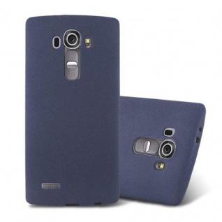 Cadorabo Hülle für LG G4 / G4 PLUS in FROST DUNKEL BLAU - Handyhülle aus flexiblem TPU Silikon - Silikonhülle Schutzhülle Ultra Slim Soft Back Cover Case Bumper