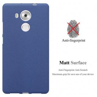 Cadorabo Hülle für Huawei MATE 8 in FROST DUNKEL BLAU - Handyhülle aus flexiblem TPU Silikon - Silikonhülle Schutzhülle Ultra Slim Soft Back Cover Case Bumper - Vorschau 2