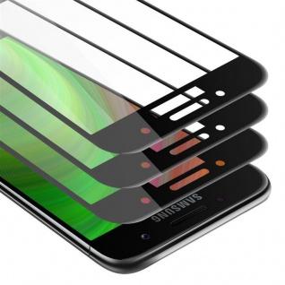 Cadorabo 3x Vollbild Panzer Folie für Samsung Galaxy A7 2017 - Schutzfolie in TRANSPARENT mit SCHWARZ - 3er Pack Gehärtetes (Tempered) Display-Schutzglas in 9H Härte mit 3D Touch