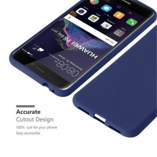 Cadorabo Hülle für Huawei P8 LITE 2017 in FROST DUNKEL BLAU - Handyhülle aus flexiblem TPU Silikon - Silikonhülle Schutzhülle Ultra Slim Soft Back Cover Case Bumper - Vorschau 3