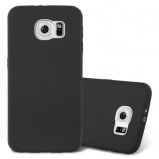Cadorabo Hülle für Samsung Galaxy S6 in FROST SCHWARZ - Handyhülle aus flexiblem TPU Silikon - Silikonhülle Schutzhülle Ultra Slim Soft Back Cover Case Bumper