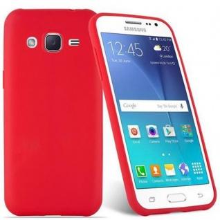 Cadorabo Hülle für Samsung Galaxy J2 2015 in CANDY ROT - Handyhülle aus flexiblem TPU Silikon - Silikonhülle Schutzhülle Ultra Slim Soft Back Cover Case Bumper - Vorschau 2