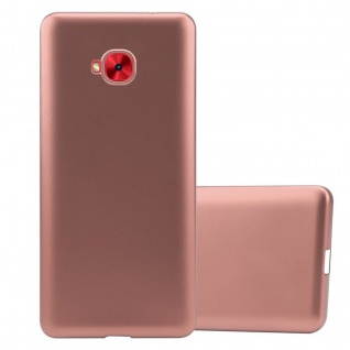 Cadorabo Hülle für Asus ZenFone 4 Selfie PRO in METALLIC ROSÉ GOLD - Handyhülle aus flexiblem TPU Silikon - Silikonhülle Schutzhülle Ultra Slim Soft Back Cover Case Bumper