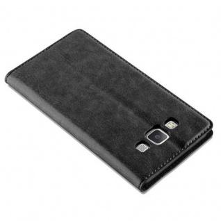 Cadorabo Hülle für Samsung Galaxy A5 2015 in NACHT SCHWARZ - Handyhülle mit Magnetverschluss, Standfunktion und Kartenfach - Case Cover Schutzhülle Etui Tasche Book Klapp Style - Vorschau 5