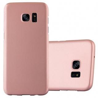 Cadorabo Hülle für Samsung Galaxy S7 EDGE in METALL ROSE GOLD - Hardcase Handyhülle aus Plastik gegen Kratzer und Stöße - Schutzhülle Bumper Ultra Slim Back Case Hard Cover