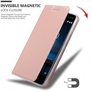 Cadorabo Hülle für Nokia 8 2017 in CLASSY ROSÉ GOLD - Handyhülle mit Magnetverschluss, Standfunktion und Kartenfach - Case Cover Schutzhülle Etui Tasche Book Klapp Style - Vorschau 3