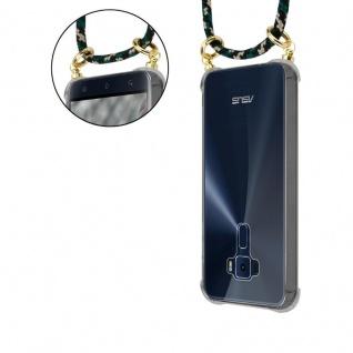 """Cadorabo Handy Kette für Asus ZenFone 3 (5, 2"""" Zoll) in CAMOUFLAGE - Silikon Necklace Umhänge Hülle mit Gold Ringen, Kordel Band Schnur und abnehmbarem Etui ? Schutzhülle - Vorschau 5"""