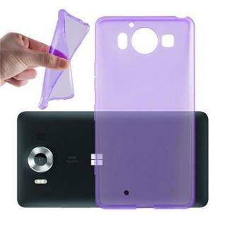 Cadorabo Hülle für Nokia Lumia 950 XL - Hülle in TRANSPARENT LILA ? Handyhülle aus TPU Silikon im Ultra Slim 'AIR' Design - Ultra Slim Soft Backcover Case Bumper