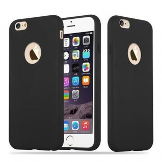 Cadorabo Hülle für Apple iPhone 6 PLUS / iPhone 6S PLUS in CANDY SCHWARZ - Handyhülle aus flexiblem TPU Silikon - Silikonhülle Schutzhülle Ultra Slim Soft Back Cover Case Bumper