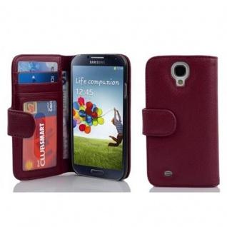 Cadorabo Hülle für Samsung Galaxy S4 in BORDEAUX LILA ? Handyhülle mit Magnetverschluss und 3 Kartenfächern ? Case Cover Schutzhülle Etui Tasche Book Klapp Style