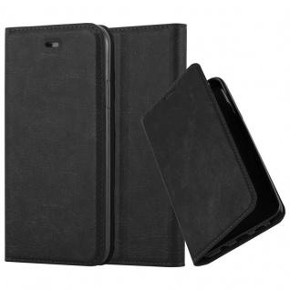 Cadorabo Hülle für Apple iPhone XR in NACHT SCHWARZ - Handyhülle mit Magnetverschluss, Standfunktion und Kartenfach - Case Cover Schutzhülle Etui Tasche Book Klapp Style